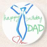 papá del feliz cumpleaños posavasos personalizados