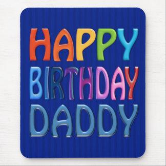 Papá del feliz cumpleaños - saludo colorido feliz mouse pad