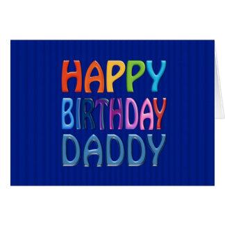 Papá del feliz cumpleaños - saludo colorido feliz tarjeta de felicitación