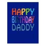 Papá del feliz cumpleaños - saludo colorido feliz postales