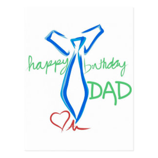 papá del feliz cumpleaños tarjeta postal