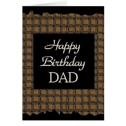 PAPÁ del feliz cumpleaños Tarjetón