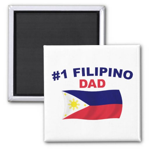 Papá del filipino #1 imán cuadrado