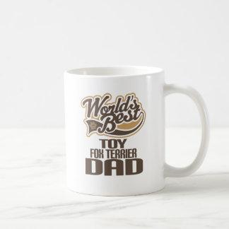 Papá del fox terrier del juguete (mundos mejores) taza básica blanca