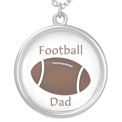 Papá del fútbol colgante redondo