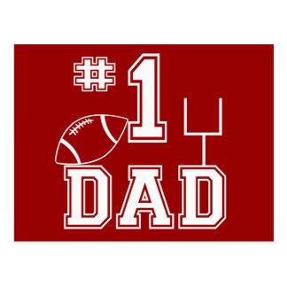 Papá del fútbol del número uno postal
