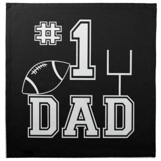 Papá del fútbol del número uno servilleta de papel