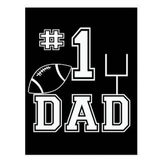 Papá del fútbol del número uno tarjeta postal