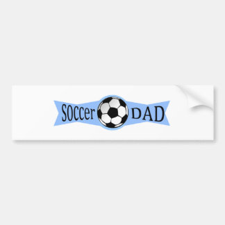 papá del fútbol etiqueta de parachoque