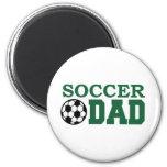Papá del fútbol imanes para frigoríficos