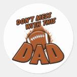 Papá del fútbol pegatinas redondas
