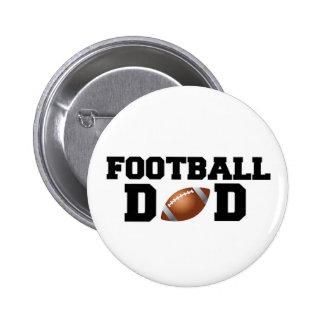 ¡Papá del fútbol! Pin Redondo De 2 Pulgadas