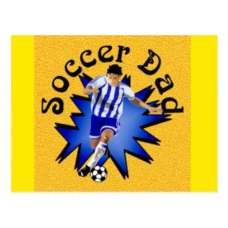 Papá del fútbol tarjetas postales