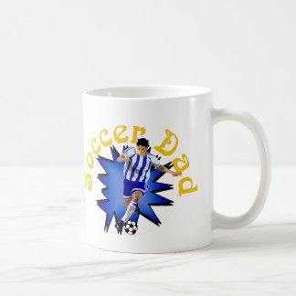 Papá del fútbol tazas de café
