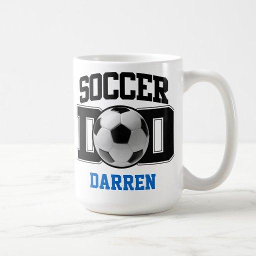 Papá del fútbol taza clásica