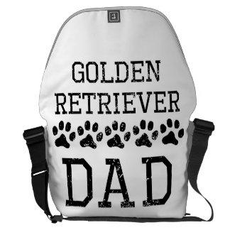 Papá del golden retriever (apenado) bolsas messenger