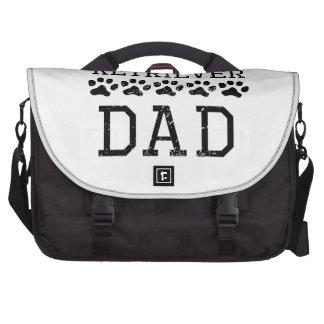 Papá del golden retriever (apenado) bolsas de portatil