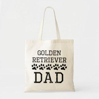 Papá del golden retriever (apenado) bolsa tela barata