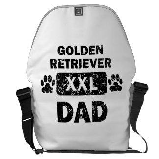 Papá del golden retriever bolsas messenger