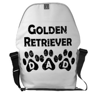 Papá del golden retriever bolsas de mensajeria