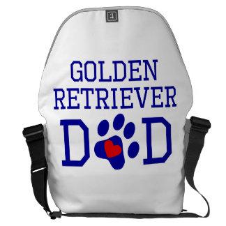 Papá del golden retriever bolsas de mensajería