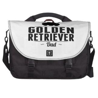 Papá del golden retriever bolsa para ordenador