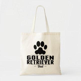 Papá del golden retriever bolsa tela barata
