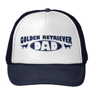 Papá del golden retriever gorras