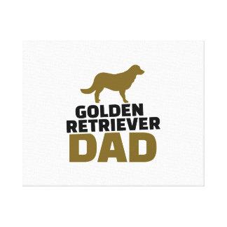 Papá del golden retriever impresión en lona