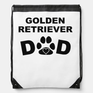 Papá del golden retriever mochila