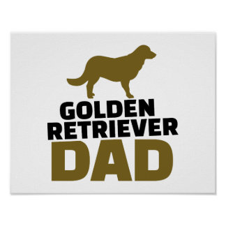 Papá del golden retriever posters