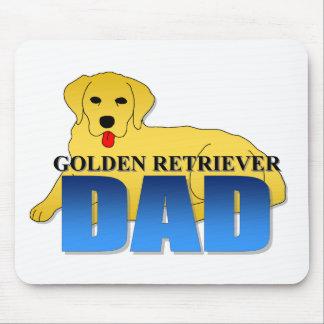 Papá del golden retriever alfombrillas de ratones