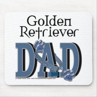 Papá del golden retriever tapete de ratones