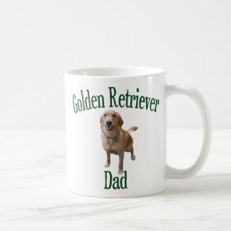 Papá del golden retriever taza de café