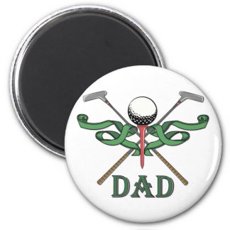Papá del golf imán redondo 5 cm