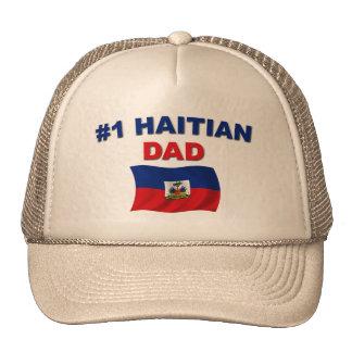 Papá del haitiano #1 gorras