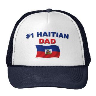 Papá del haitiano #1 gorros