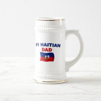 Papá del haitiano #1 jarra de cerveza