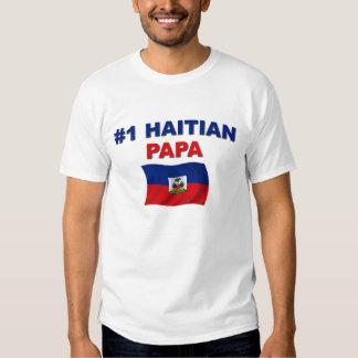 Papá del haitiano #1 playera