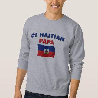 Papá del haitiano #1 sudaderas encapuchadas