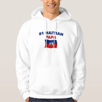 Papá del haitiano #1 suéter con capucha