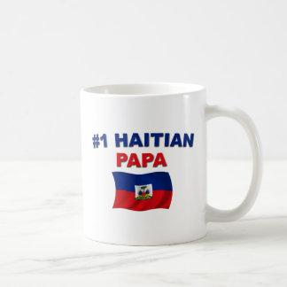 Papá del haitiano #1 taza clásica
