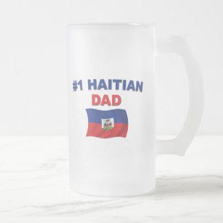 Papá del haitiano #1 taza de cristal