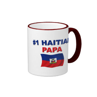 Papá del haitiano #1 taza de dos colores