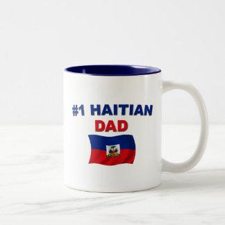 Papá del haitiano #1 taza de dos tonos
