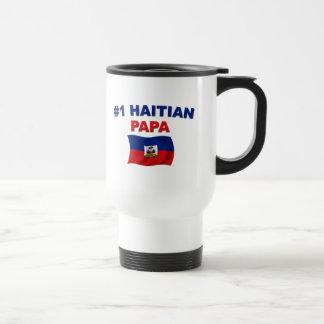 Papá del haitiano #1 taza de viaje