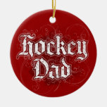 Papá del hockey adorno de navidad