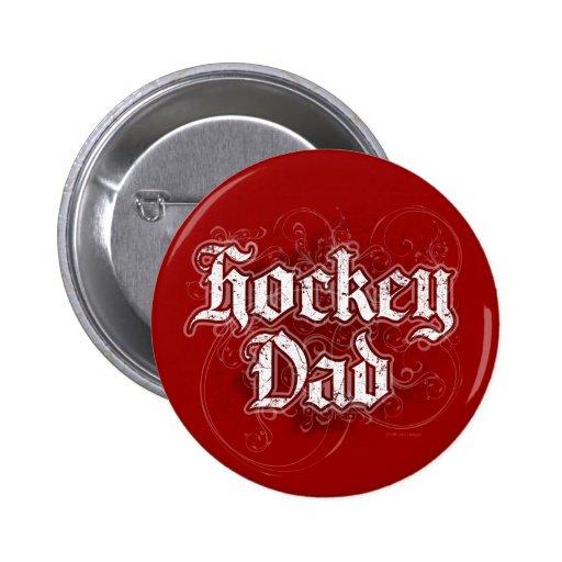 Papá del hockey pins