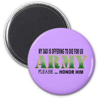 Papá del honor - ejército imán redondo 5 cm