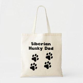 Papá del husky siberiano bolsas de mano